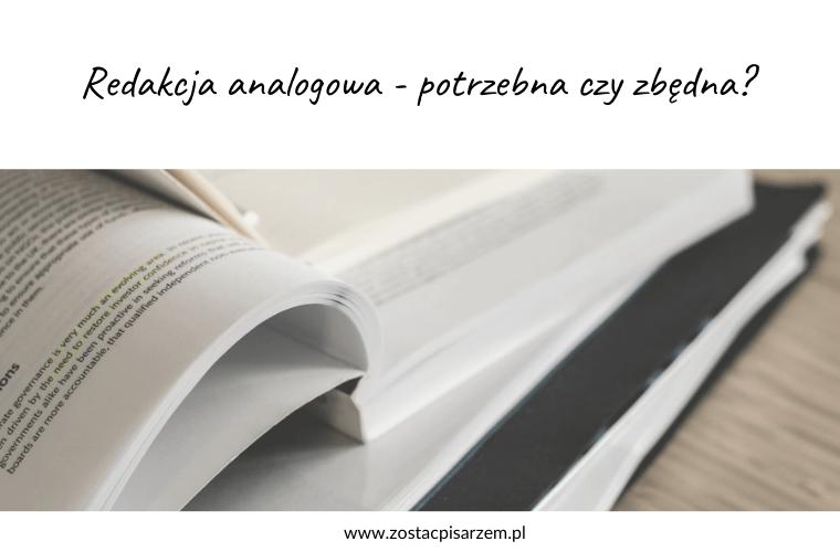 redakcja analogowa książki